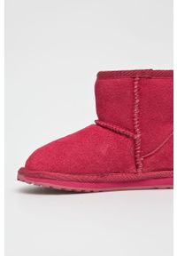 Różowe buty zimowe EMU Australia na zimę, z cholewką