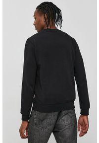 Napapijri - Bluza. Okazja: na co dzień. Kolor: czarny. Materiał: bawełna, dzianina. Wzór: aplikacja. Styl: casual