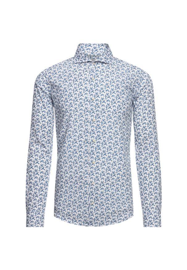 Niebieska koszula casual Emanuel Berg