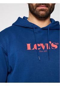 Levi's® Bluza Graphic Hoodie 38821-0025 Granatowy Relaxed Fit. Kolor: niebieski