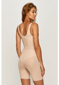 Spanx - Body modelujące Thinstincts Targered Open-Bust. Kolor: beżowy. Materiał: materiał