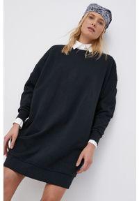 only - Only - Sukienka bawełniana. Kolor: czarny. Materiał: bawełna. Długość rękawa: długi rękaw. Wzór: gładki