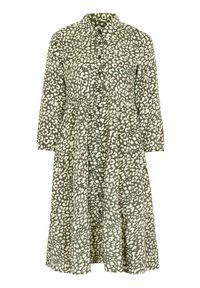 Zielona sukienka Happy Holly szmizjerki, z aplikacjami