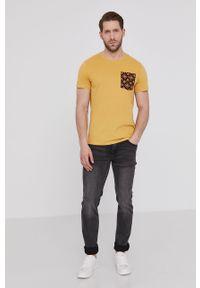 Żółty t-shirt medicine z nadrukiem