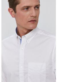GANT - Gant - Koszula. Okazja: na co dzień. Typ kołnierza: button down. Kolor: biały. Materiał: tkanina. Długość rękawa: długi rękaw. Długość: długie. Wzór: gładki. Styl: casual
