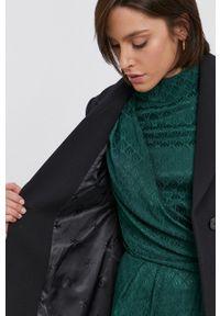 United Colors of Benetton - Płaszcz. Okazja: na co dzień. Kolor: czarny. Styl: casual