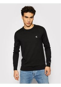 Calvin Klein Jeans Sweter Stretch Jumper J30J317118 Czarny Regular Fit. Kolor: czarny