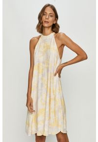 Fioletowa sukienka Vila mini, prosta, casualowa