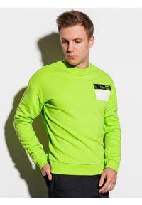 Zielona bluza Ombre Clothing klasyczna, bez kaptura