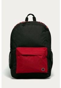Czarny plecak DC z nadrukiem