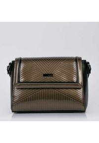 Złota torebka Monnari w geometryczne wzory