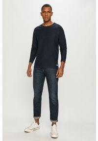 Niebieska bluza nierozpinana PRODUKT by Jack & Jones gładkie, bez kaptura, na co dzień, raglanowy rękaw