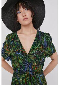 medicine - Medicine - Sukienka Tropical Chaos. Materiał: tkanina. Długość rękawa: krótki rękaw. Typ sukienki: rozkloszowane