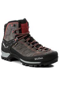 Szare buty trekkingowe Salewa trekkingowe, Gore-Tex