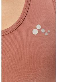 Only Play - Biustonosz sportowy. Kolor: różowy, fioletowy, wielokolorowy. Materiał: elastan, materiał, poliamid. Rodzaj stanika: wyciągane miseczki. Wzór: gładki #3