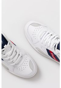 Białe sneakersy Polo Ralph Lauren z okrągłym noskiem, na sznurówki, z cholewką
