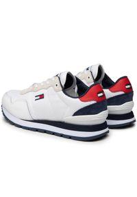 Tommy Jeans Sneakersy Lifestyle Mix Runner EM0EM00668 Biały. Kolor: biały