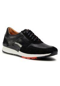 Sergio Bardi - Sneakersy SERGIO BARDI - SB-69-10-000948 601. Okazja: na co dzień. Kolor: czarny. Materiał: skóra. Szerokość cholewki: normalna. Styl: klasyczny, casual