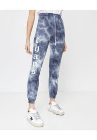 CHAOS BY MARTA BOLIGLOVA - Szare spodnie dresowe z logo Marlon. Kolor: szary. Materiał: dresówka. Wzór: nadruk