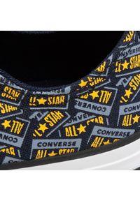 Niebieskie półbuty Converse z cholewką, na co dzień, casualowe