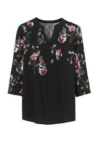 Czarna bluzka Cellbes z dekoltem w serek, elegancka, na co dzień