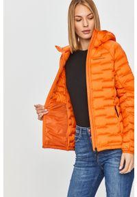 Pomarańczowa kurtka Peak Performance casualowa, na co dzień, z kapturem #6