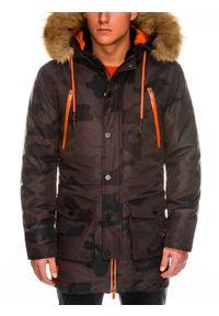 Kurtka Ombre Clothing na zimę, moro