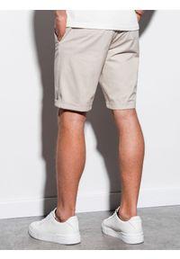 Beżowe szorty Ombre Clothing na lato, krótkie, casualowe, na co dzień
