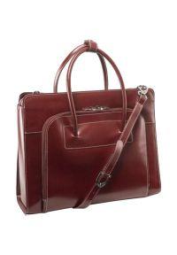 Torba na laptopa MCKLEIN Lake Forest 15.6 cali Czerwony. Kolor: czerwony. Materiał: skóra. Styl: klasyczny, elegancki, casual