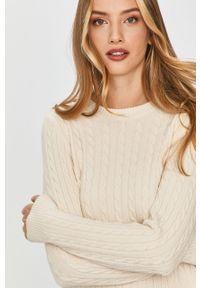 Beżowy sweter Answear Lab długi, z długim rękawem, wakacyjny, na co dzień