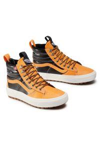 Vans - Sneakersy VANS - Sk8-Hi Mte 2.0 Dx VN0A4P3I2NF1 (Mte) Apricot/Black. Kolor: pomarańczowy. Materiał: skóra, materiał. Szerokość cholewki: normalna. Styl: elegancki. Model: Vans SK8