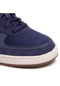 Clarks - Sneakersy CLARKS - Bizby Lace 261596567 Dark Blue Combi. Okazja: na co dzień. Kolor: niebieski. Materiał: skóra, nubuk, zamsz, materiał. Szerokość cholewki: normalna. Styl: klasyczny, sportowy, casual
