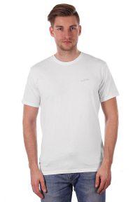 Biały T-shirt Męski, Krótki Rękaw, Just Yuppi, Koszulka, Gładki, z Logo, 100% BAWEŁNA. Okazja: na co dzień. Kolor: biały. Materiał: bawełna. Długość rękawa: krótki rękaw. Długość: krótkie. Wzór: nadruk. Styl: casual
