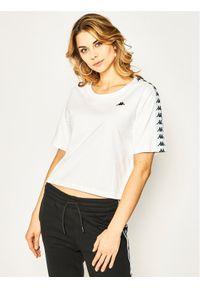 Kappa T-Shirt Glanda 307066 Oversize. Kolor: biały