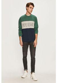 Pepe Jeans - Bluza bawełniana Ismael. Kolor: zielony. Materiał: bawełna. Wzór: nadruk