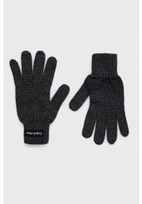 Calvin Klein - Rękawiczki. Kolor: szary
