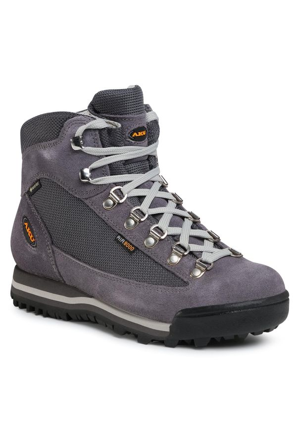 Szare buty trekkingowe Aku Gore-Tex, z cholewką, trekkingowe