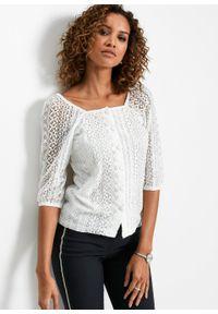 Biała bluzka bonprix elegancka