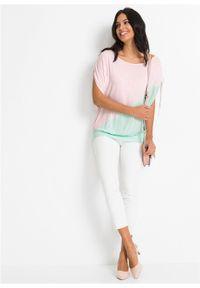 """Shirt """"nietoperz"""" bonprix blady jasnoróżowy - pastelowy miętowy. Kolor: różowy"""