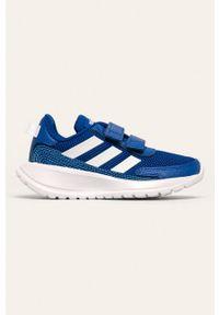 Niebieskie buty sportowe Adidas z cholewką, do biegania