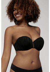 Czarny strój kąpielowy dwuczęściowy Dorina z odpinanymi ramiączkami