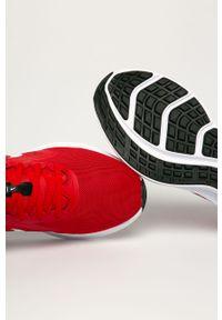 Czerwone buty sportowe Nike z cholewką, z okrągłym noskiem, na sznurówki