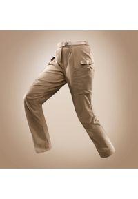 FORCLAZ - Spodnie trekkingowe damskie Forclaz DESERT 500. Materiał: bawełna, materiał, elastan, poliamid, poliester