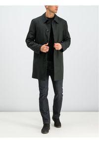 Czarny płaszcz przejściowy Bugatti