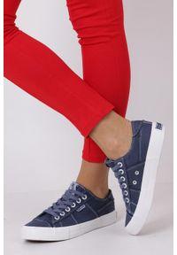 Niebieskie trampki Big-Star z cholewką, eleganckie, w kolorowe wzory
