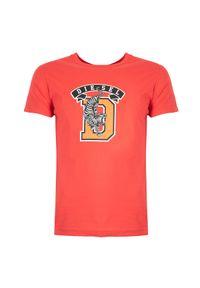 """Diesel T-shirt """"T-Diego-B4"""". Okazja: na co dzień. Materiał: bawełna. Wzór: nadruk. Styl: casual"""