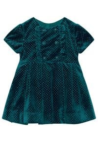 Mayoral Sukienka elegancka 4972 Zielony Regular Fit. Kolor: zielony. Styl: elegancki