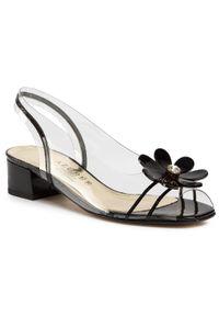 Białe sandały Azurée na co dzień, z aplikacjami