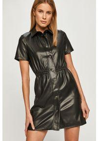 Czarna sukienka TALLY WEIJL casualowa, z krótkim rękawem, mini