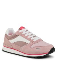 Różowe sneakersy Sprandi na co dzień, z cholewką